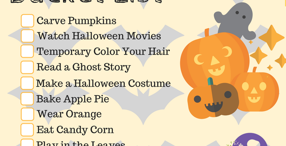 Image of a Halloween Bucket List