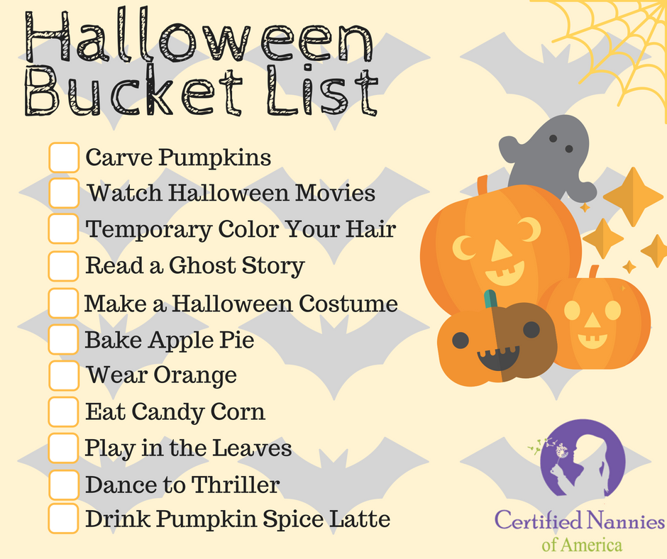 Image of a Halloween Bucket List
