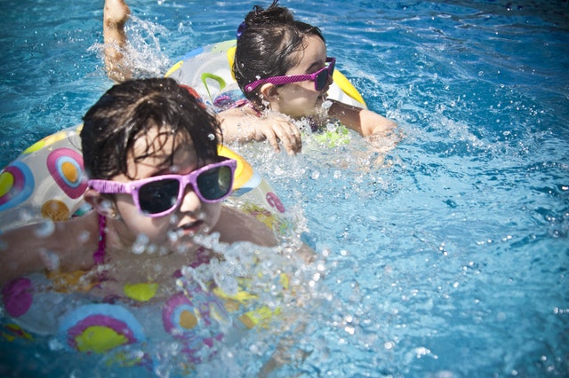 image of children swimming in nevada over the summer