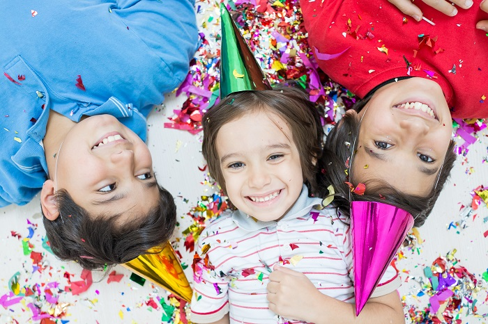 image of kids celebrating new years